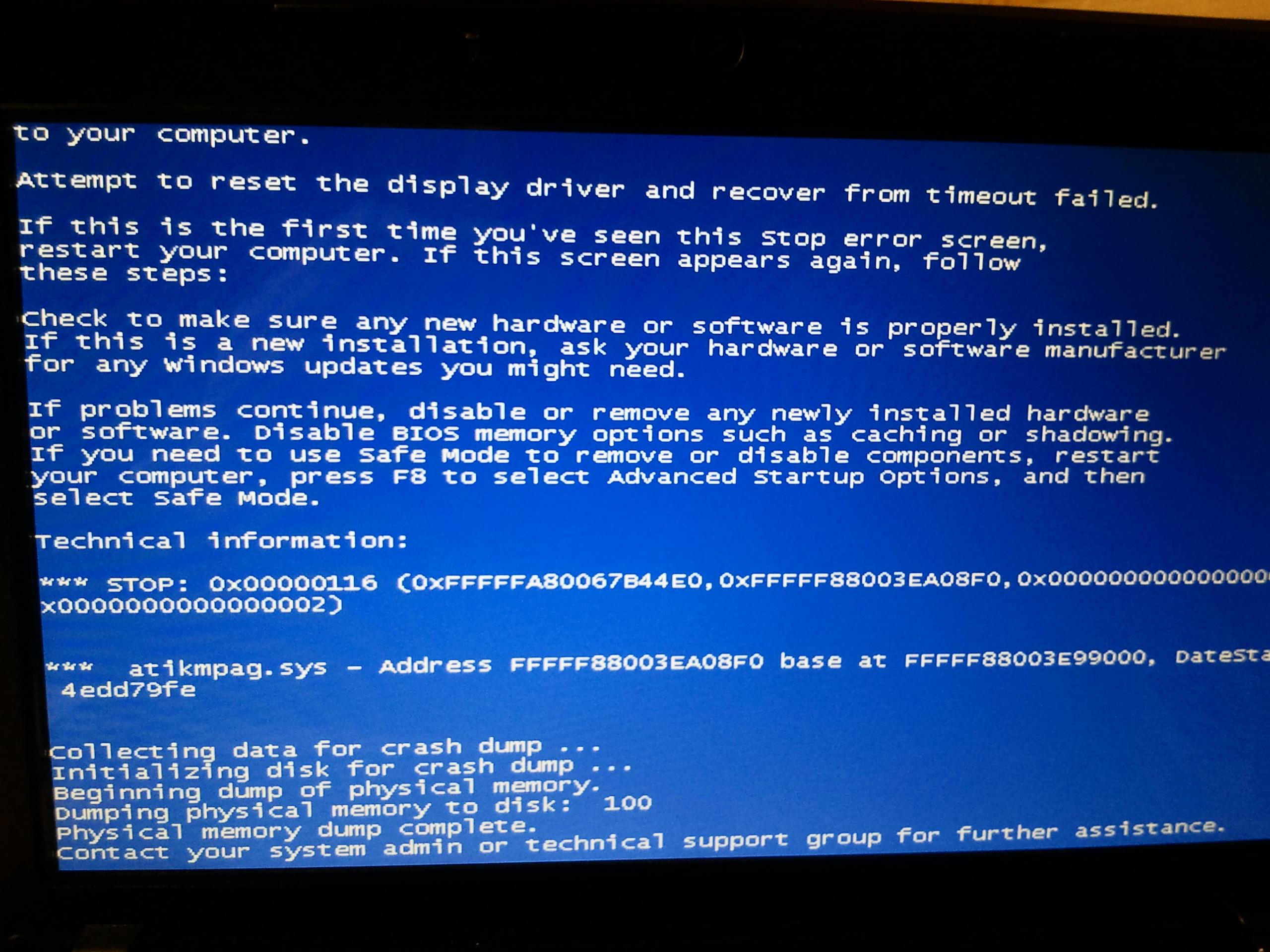 Bug Win Ecran Noir Windows 7